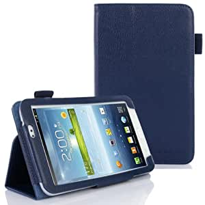SUPCASE Slim Fit Folio Leather Case Cover for Samsung Galaxy Tab 3 7.0 inch Tablet (SM-T210/T211; Multiple Color Options; Deep Blue)