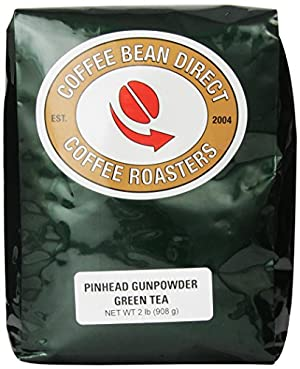 Coffee Bean Direct Pinhead Gunpowder Loose Leaf Tea, 2 Pound Bag