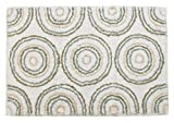 Park B. Smith Circles Cotton Bath Rug, 20 by 30-Inch, Celadon/Seaglass/White