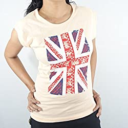 ShopMore Cotton T-Shirt(Orange_Large)