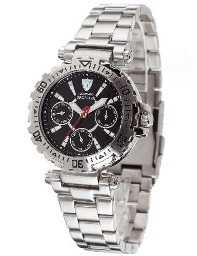 Detomaso DT3016-C - Reloj analógico de cuarzo para mujer con correa de acero inoxidable, color plateado