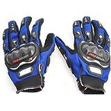 Indiashopers Pro Bike Full Racing Biking Driving Motorcycle Riding Gloves (Blue)