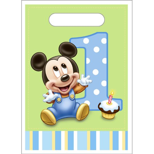 Mickey's 1st Birthday Treat Sacks 8ct [Toy] [Toy]
