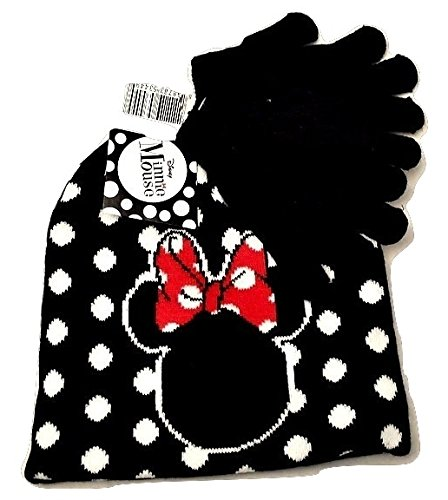 [Minnie Mouse Boutique Hat & Gloves Winter Toddlers Girls Toy Figure Black] (Castle Boutique Halloween Costumes)