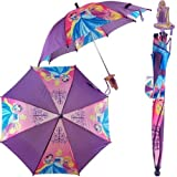 Disney Princess Girl's Purple Umbrella- 3D Rapunzel Handle