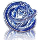プレゼント に ガラス製 ペーパーウェイト (ブルー系統色)