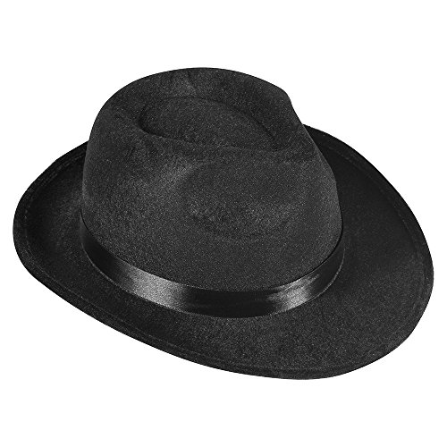 Black-Fedora-Gangster-Hat-Costume-Accessory-Funny-Party-Hats
