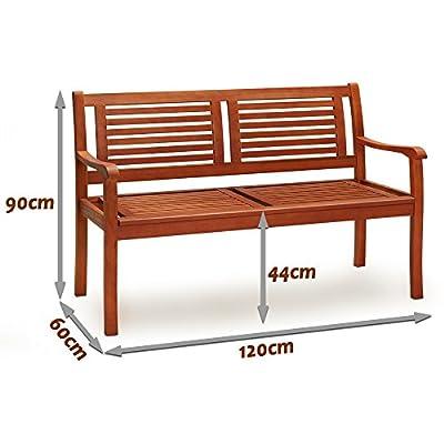 Gartenbank aus Eukalyptus - Sitzbank Holzbank Parkbank von Deuba® bei Gartenmöbel von Du und Dein Garten