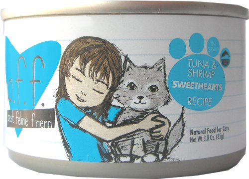 Best Feline Friend Cat Food, Tuna & Shrimp Sweethearts Recipe, 5.5-Ounce Cans (Pack Of 16)