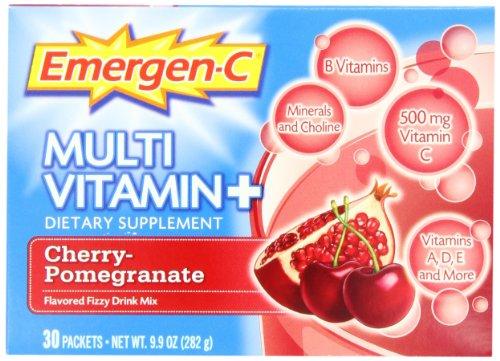 Emergen-C Multi-Vitamin Cherry-Pomegranate Flavored FIZZY Drink Mix, 30 packets
