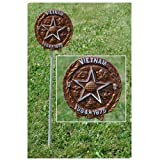 Vietnam War Veteran Grave Marker - in Bronze Finished Aluminum