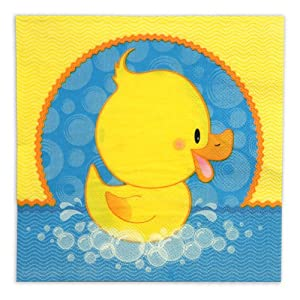 ducky duck luncheon napkins 16 qty pack baby shower