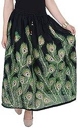 Soundarya Women's Cotton Skirt (Black)