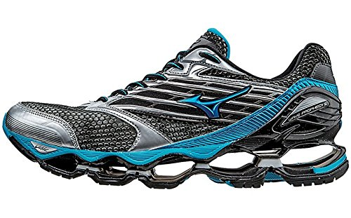 Mizuno Men's Wave Prophecy 5 Running Shoe, Gunmetal/Atomic Blue, 10 D US (Mizuno Running Shoes Prophecy compare prices)