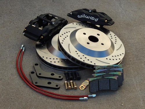 Front Red Brake Calipers and Rotors /& Ceramic Pads For Pair CAMARO FIREBIRD