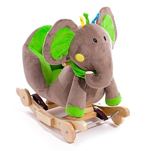 Elephant type cheval à bascule avec roues, bascules et super effets sonores