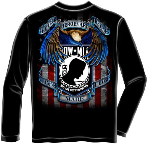 POW MIA Longsleeve T-shirt True Heroes Never Made It Home-medium