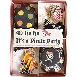 Click to buy Pirate Birthday Party Ideas: Pirate Birthday Party Cupcake Set from Amazon!