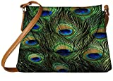 Snoogg Feather Pattern Womens Carry Around Sling Bags