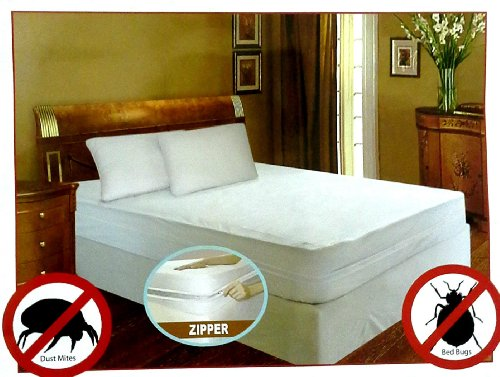 Lowest Price! Royal Bed Bug 100% Hypoallergenic Mattress Cover With Zipper Enclosure -SOFT QUIET &am...