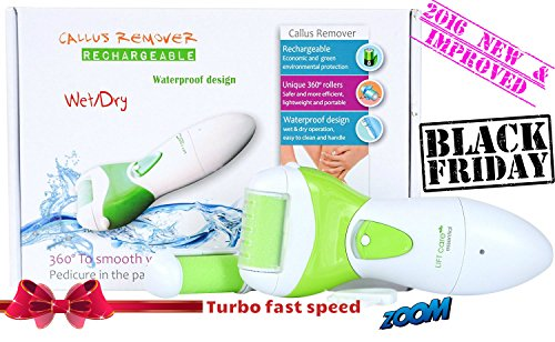 [CYBER WEEK SALE] USB Rechargeable Foot Callus Remover , Waterproof, Environmental Friendly Foot File for Pedicures, Exfoliating Foot Scrubber to remove Hard Skin and Cracked Heels (Foot Scrubber Cleaner compare prices)