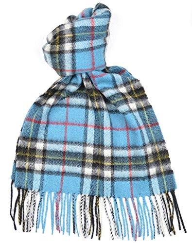 Lambswool-Scottish-Thomson-Blue-Tartan-Clan-Scarf-Gift