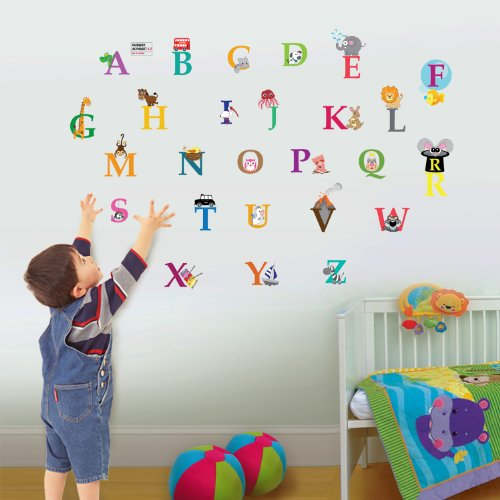 Walplus Kids Cute Alphabet London Home Nursery Children Girls Room Wall Stickers Paper