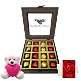 Chocholik Luxury Chocolates - Perfect Combination Of Wrapped Chocolates And Truffles With Teddy And Love Card