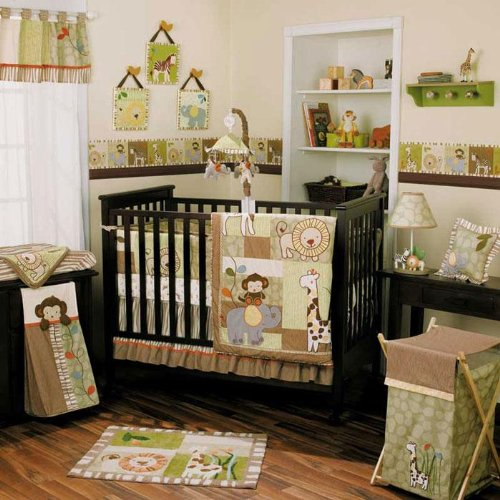 Safari baby boy bedding the image kid for Baby boy bedroom furniture