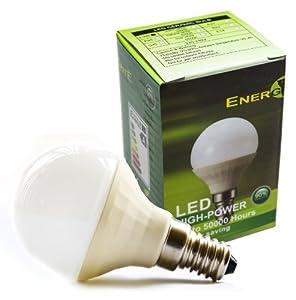 EnergyBrite, 3.3W SES/E14 Epistar LED Bulb ,Ceramic TRUE Golf Ball Shape, Warm White 3000k, Small Edison Screw Fitting,Energy Saving from EnergyBrite