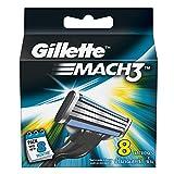 Gillette Mach3 Brand New Blades/ cartridges 100% Genuine - 8 blades