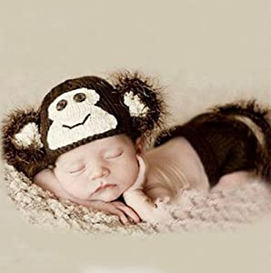 Amazon.com : Brightdeal Crochet Cute Monkey Hat Diaper