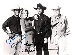 WALKER, TEXAS RANGER Signed by NORRIS, GILYARD JR., WILSON, and WILLINGHAM 10x8 B W... by Sports+Memorabilia