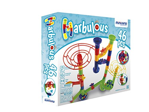 Miniland - Marbolous, circuito de bolas, 46 piezas (94115)