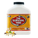 Survival Tabs 15-Day Prepper Food Replacement for editorial assistant Emergency Food Supply Gluten Free and Non-GMO - Vanilla Malt Flavor