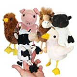 Farm Animals Finger Puppets Set Of 6
