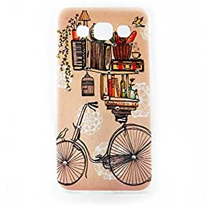AVC Shimmer Vintage Cycle Hard Shell Back Case Cover for Samsung Galaxy E5 SM-E500 Mobile Cell Phone (Multicolor)