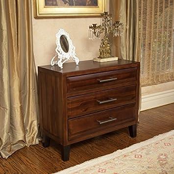Glendora 3 Drawer Solid Wood Storage Chest / Nightstand