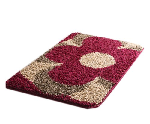 Fashion Flower Mat Cushion Kitchen Toilet Bathroom Carpet Door Warm 40 X 60Cm front-357378