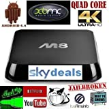 SkyDeals ANDROID TV BOX INFINITY M8 FULLY LOADED QUAD CORE**4K 4.4.4 KITKAT ULTRA-HD XBMC MOVIES SPORTS GAMES ADULT NEXT GENERATION ANDROID TV BOX FASTEST ON THE MARKET TO DATE WORLDWIDE TV AT YOUR FINGER TIPS WIFI AND ETHERNET CONNECTION