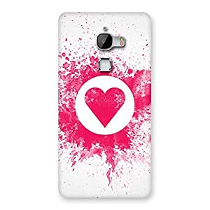 Stylish Splash Heart Back Case Cover for LeTv Le Max