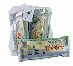 Chabert &amp; Guillot White nougar bar 30 g soft nougat with almonds 1.06 oz - 6 piece pack