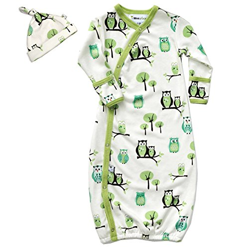 Wee Urban Owls Gown and Cap Set 0-6 months - 1