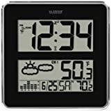 La Crosse Technology 512B-811 Large Atomic Digital Wall Clock with Forecast & Weather