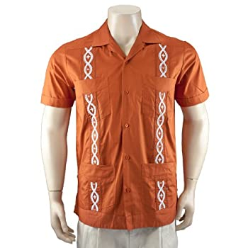 Burnt Orange 100% Cotton Guayabera