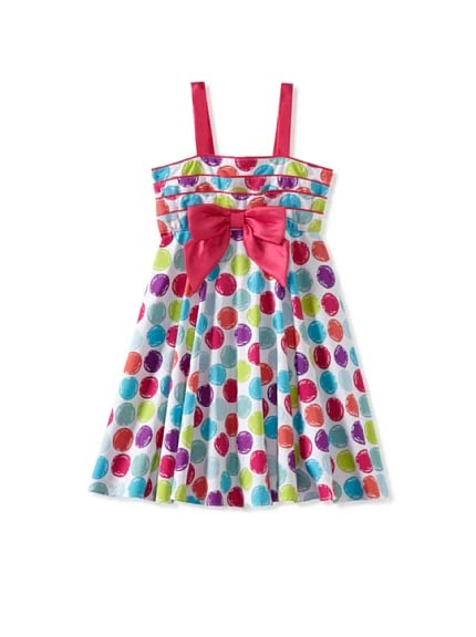 Bonny Billy Girl&#8217;s Multidot Bow Dress