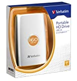 Verbatim 2.5'ポータブルハードディスクドライブ 160GB USBタイプ HDPU160GVS