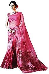 LolyDoll Women's Cotton Saree SR2_Pink