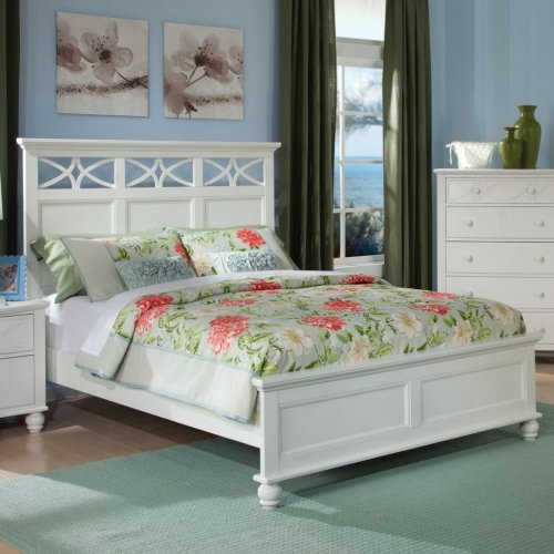 Homelegance Sanibel Platform Bed in White Eastern King