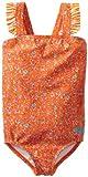 Roxy Girls 2-6X Sand Blossom Ruffle One Piece Swimsuit, Orange, 4